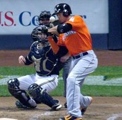Giancarlo Stanton getting hit by the pitch which caused his injury.