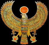 The symbol of Heru is the hawk or falcon bird.