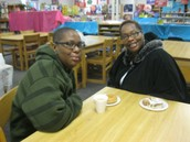 Ms. Ellis with son, McKinley (7th Grade)