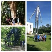 2nd grade Panthers enjoying the outdoors & sculptures at Laguna Gloria!