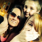 me my mom and little brother