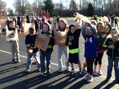 Kindergarten students are ready for the Egg Hunt.