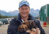Martin and the pups