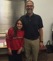 Student Council Honors at Board Meeting with Mr. Stowe