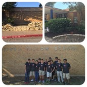 Thanks To Hyde Park Schools 7th Graders For Volunteering Time To Beautify Our Pillow Flower Beds!