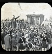Abraham Lincoln giving a speech