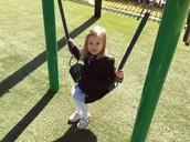 Eleanor is ready to swing!