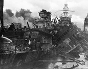 Heavy Damage to ships stationed at Pearl Harbor
