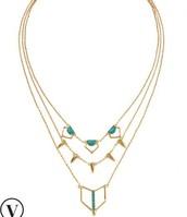 Turquoise Stone layering necklace $89