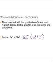 Monomial facotoring