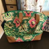 $52 Getaway Bag - Green Ikat