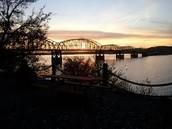 The Chamberlain bridge.