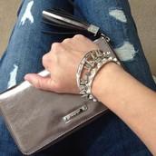 Mercer Wallet Metallic Leather $64 (was $128)