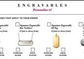 Engravable Items