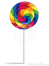 The world famous, delicious, rainbow  lolipop