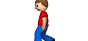 This emoji signifies when I began to walk.