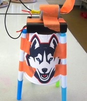 Our Husky art bot ready for action!