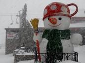 Snowman on Mount Hermon