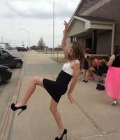 Kallyn struts her stuff in heels for the dance!