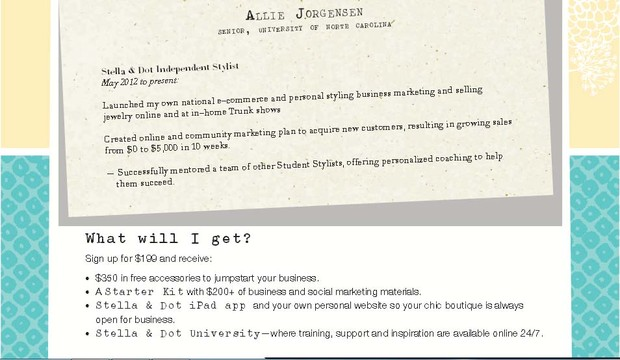Now hiring stella dot stylists smore newsletters 25 30 commission weekly on your blue stella dot debit card colourmoves