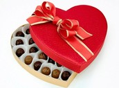 boxes of chocolates are also given as symbols of love and appreciation