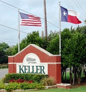 Entrance of the town of Keller