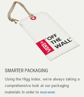 Vans is using better things for environment and cheaper things for packaging.