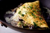 "Don't Miss Out on the mouth watering ""Roasted Mushroom and Garlic Omelet"""
