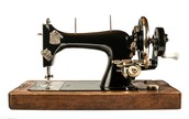 black and gold rare 1859 sewing machine