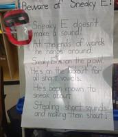 Sneaky E Poem