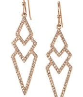 Rose Gold Pave Chevron Earrings (no box) $10
