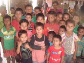 Pupils from Shantinagar, Kohalpur.