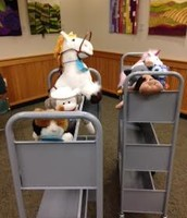 Stuffed Animal Book Cart Races