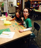 Working Hard! They loved creating Leprechaun sentences.