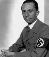 Joseph Goebbles posing as a Nazi supporter