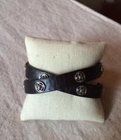 Clover Double Wrap Leather Bracelet