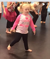 Practicing in dance class...