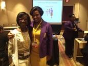 President Tyson and Dr. Lateshia Woodley, Principal McClarin High School