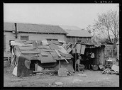 this is a picture of a house during the great depression