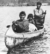 Ojibwe birch bark canoe