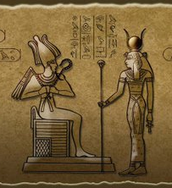 Asar (Osiris) and Aset (Isis) in the Kemetic tradition