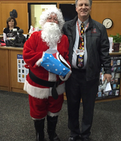 Santa making a special visit to our last faculty meeting!