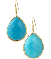 Serenity Stone Earrings- Turquoise