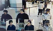 The two in black on the left are the alleged bombers. And the one on the right is the alleged bomb engineer,