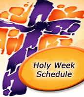 Holy Week Schedule at St. John Vianney