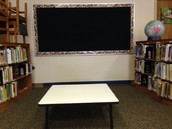 Short tables with White Board paint