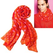 Union Square Scarf Hot Pink Elephant Reg $59 -50% sale $30