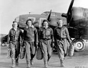 All the women who already had their pilot's licence before serving in the U.S. military were the first women to fly American military aircraft. They were flying planes on certain routes, transporting goods, practiced attacking, freeing thousands of male U.S. pilots for armed duty. Around 1,000 WASPs served and 38 died during the war.