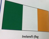 The flag for Ireland.