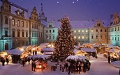 A Town Celebrating Christmas